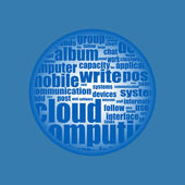 Cloud computing - word cloud background — Stock Vector