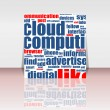 Flyer or cover, cloud computing concept design - Stock vektor