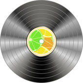 Vinyl record isolated — Vector de stock