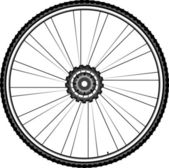Bike wheel - vector illustration isolated on white background — Stock Vector