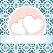 Love concept, heart, grungy style, vector — Stock Vector