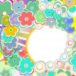 Royalty-Free Stock Vector Image: Pastel background with scrapbook elements in vintage style