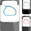 Smart phone sets mobile handsets with abstract cloud on screen — Stock Vector