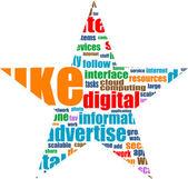 Social media marketing word cloud — Stock Vector