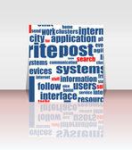 Wie Konzept als social-Media-Symbol im Flyer oder Abdeckung — Stockvektor