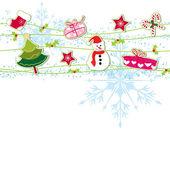 Kartka świąteczna ozdoba pozdrowienie — Wektor stockowy