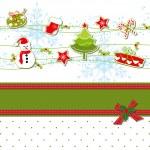 Christmas ornament greeting card — Stock Vector