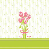 Greeting card with rose flowers — Stock Vector