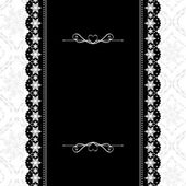 Card design vintage ornate frame on seamless background — Stock Vector