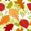 Colorful autumn leaves seamless pattern — Stock Vector