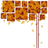 Abstract autumn leaves background — Stock Vector
