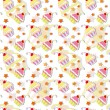 colorful cupcake seamless pattern — Stock Vector