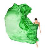 Ballet dancer in the flying dress — Stock Photo