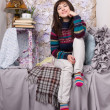 Happy girl winter clothes — Stok Fotoğraf #11350797