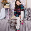 Happy girl winter clothes — Stockfoto #11350797
