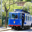 Royalty-Free Stock Photo: Blue streetcar of the Tibidabo