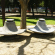 Street furniture in the park — Stock Photo