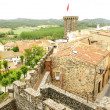 Air sight of Hostalric's castle - Foto Stock
