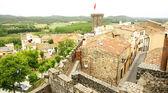 Air sight of Hostalric's castle — Stock Photo