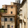 Small square in the ancient Girona — Stock Photo