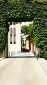 Entry to the ancient part of Girona — Stock Photo