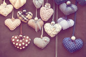 Shabby chic hearts — Stock Photo