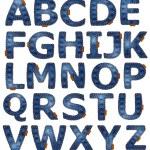 Denim alphabet — Stock Photo
