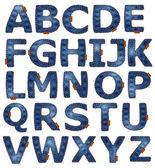 Alfabeto del dril de algodón — Foto de Stock