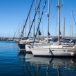 Marina under blue sky - Stockfoto