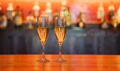 Glasses of liquor — Stock Photo