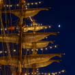 Masts and spats - Stock Photo