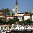 Old belgrade on Sava river sunny day - Stock Photo