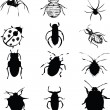 Bugs set — Stock Vector