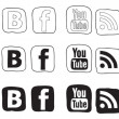 Social media icon black and white — Stock Vector