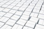 Witte kubus vakken. — Stockfoto