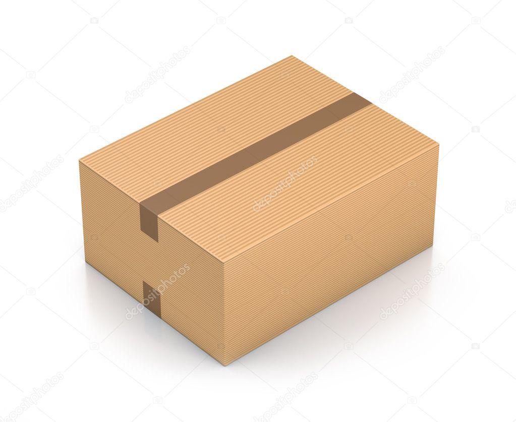 Brown Sealed Rectangle Box Stock Photo Loupeproject