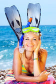 Summer fun on the beach — Stock Photo
