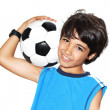 Cute boy playing football — Stock Photo #11058078