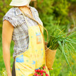 Royalty-Free Stock Photo: Happy woman gardener working