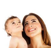 Glückliche Mutter Betrieb Kind — Stockfoto