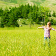 Happy girl enjoying nature — Stock Photo #11403758