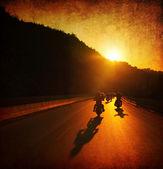 オートバイに乗る — ストック写真