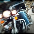 Stock Photo: Abstract slow motion, bikers riding motorbikes