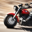 Stock Photo: Abstract slow motion, biker riding motorbike