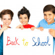 Happy schoolboys - Stock Photo