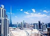 Panoramic image of Dubai city — Stock Photo