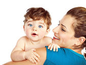 Happy mother with little baby — Stock Photo
