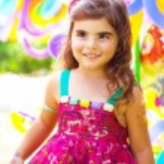 Little girl birthday — Stock Photo