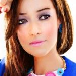 Closeup portrait of gorgeous young woman — Stock Photo