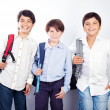 Three cheerful teenagers — Stock Photo